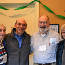 Barbara Cole, Barry Peters, Tom Kilbane, and Channie Peters celebrate the opening.