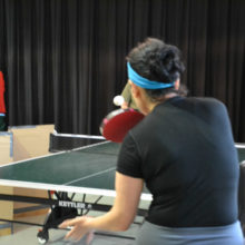 Table Tennis is played three days a week at the Center.