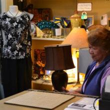 Teresa Hatten staffs the Thrift shop.
