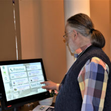 Director Reed Price gives the MySeniorCenter screen a try.
